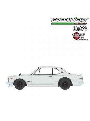 Greenlight 1:64 合金車 - Tokyo Torque S4 1971 Nissan Skyline 2000 GT-R White
