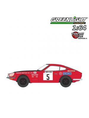 Greenlight 1:64 合金車 - Tokyo Torque S4 1972 Datsun 240Z No5 Monte Carlo Rally Nissan Motor Co Ltd