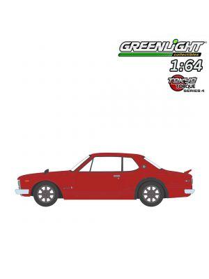 Greenlight 1:64 合金車 - Tokyo Torque S4 1972 Nissan Skyline 2000 GT-R Red