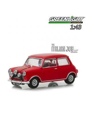 Greenlight 1:43 合金車 - The Italian Job (1969) - 1967 Austin Mini Cooper S 1275 MkI - Red with Black Leather Straps