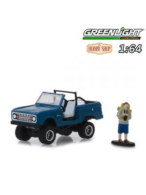 Greenlight 1:64 合金車 - 1967 Ford Bronco (Doors Removed) with Backpacker (Hobby Shop s6)