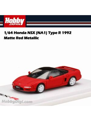 Hobby JAPAN 合金車 - 1/64 Honda NSX (NA1) Type R 1992 Matte Red Metallic