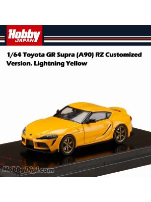 Hobby JAPAN 合金車 - 1/64 Toyota GR Supra (A90) RZ Customized Version. Lightning Yellow