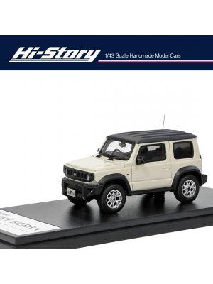 Hi-Story 1:43 Hand Made Resin Model Car - Suzuki Jumny Sierra JC (2018) Chiffon Ivory Metallic