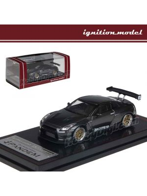 Ignition Model 1:64 限量版模型車 - Nissan PANDEM R35 GT-R Gun Metallic BB-Wheel