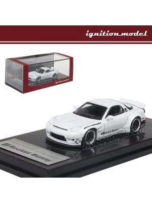 Ignition Model 1:64 Limited Diecast Model Car - Rocket Bunny Rx-7 (FD3S) White