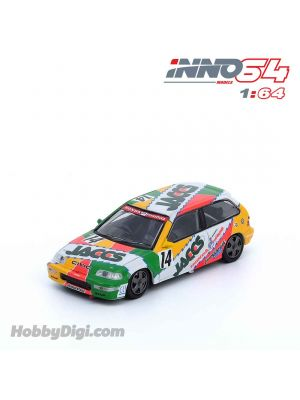 INNO64 1:64 合金模型車 - HONDA CIVIC EF9 GR.A #14