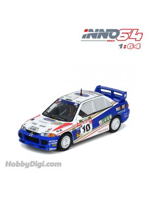 INNO64 1:64 合金模型車 - MITSUBISHI LANCER EVOLUTION III #10 New Zealand Rally 1995