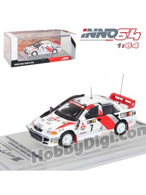 INNO64 1:64 Diecast Model Car - MITSUBISHI LANCER EVOLUTION III #7 Safarari Rally 1996