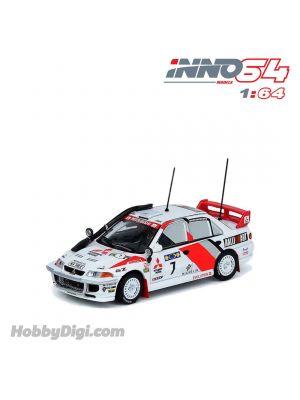 INNO64 1:64 合金模型車 - MITSUBISHI LANCER EVOLUTION III #7 Safarari Rally 1996
