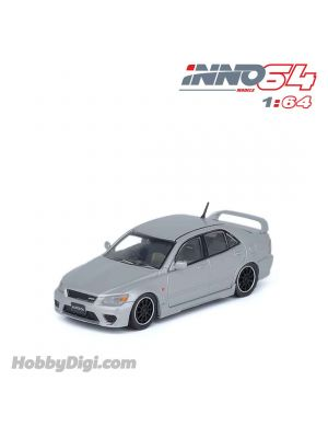 INNO64 1:64 Diecast Model Car - TOYOTA ALTEZZA RS200 Z-Edition Silver With Extra Wheels & Extra Decals Sheet