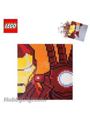 LEGO Exclusives 6250093: 48 x 48 Iron Man Mosaic