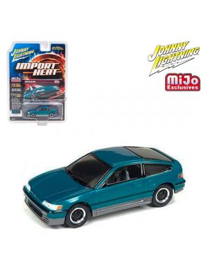 Johnny Lightning 1:64 MiJo Exclusives 合金車 - 1990 Honda CRX Custom Tohitian Green