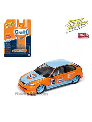 Johnny Lightning 1:64 MiJo Exclusives 合金車 - 1998 Honda Civic Gulf Livery