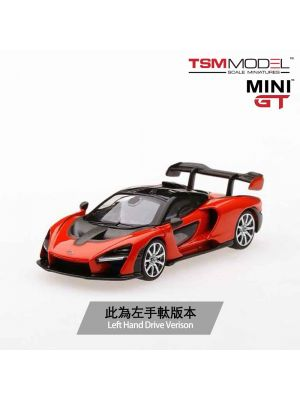 TSM 1:64 Mini GT Model Car - McLaren Senna Mira Orange (左手軚)