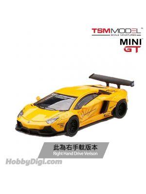 TSM 1:64 Mini GT 合金車 - LB★Works Lamborghini Aventador Volcano Yellow (右手軚)