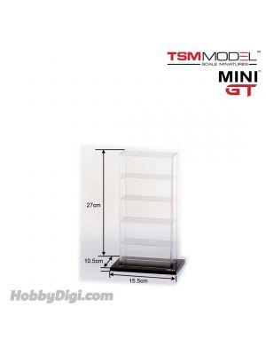 TSM 1:64 Mini GT 合金車場景和配件 - 亞克力展示櫃 小 (5架車)
