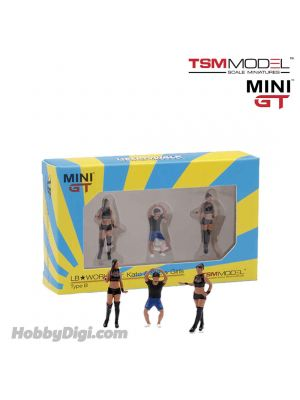 TSM 1:64 Mini GT 配件人偶 - LB★Works Mr. Kato & Show Girls Type B