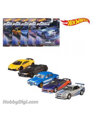 Hot Wheels Premium 1:64 Diecast Model Car - Fast & Furious Cars Set of 5