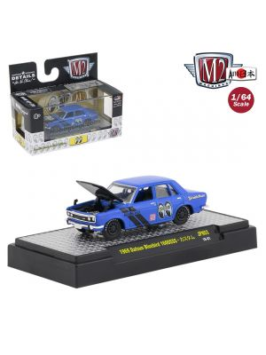 M2 Machines Mooneyes Auto Japan S3 1:64 Diecast Model Car - 1969 Datsun Bluebird 1600SSS Blue