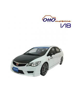 OttO Mobile Route Twisk 1:18 Resin Model Car - Honda Civic FD2 Spoon Version White