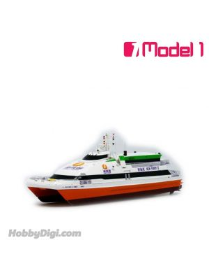 Model 1 1:250 樹脂模型船 - 新渡輪 Kvaerner Fjellstrand Flying Cat 40m 雙體船 - 新輪貳