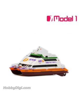 Model 1 1:250 樹脂模型船 - 新渡輪 宏德 28m 雙體船 - 新輝拾