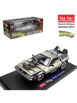 Sun Star 1:18 合金模型車 - Back to the Future Part III DeLorean Time Machine
