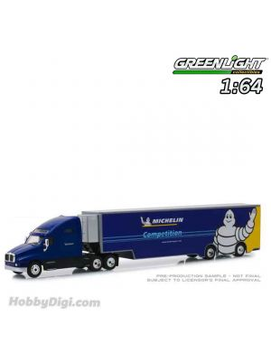 Greenlight 1:64 Diecast Model Car - Kenworth T2000 Michelin Sport Michelin Competition Transporter (Hobby Exclusive)