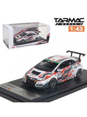 Tarmac Works 1:43 Diecast Model Car - Honda Civic Type R TCR FK2 Super Taikyu Series 2017
