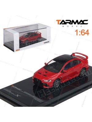 Tarmac Works HOBBY64 Model Car - Mitsubishi Lancer Evolution X Final Edition Rally Red