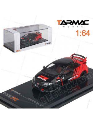 Tarmac Works 1:64 模型車 - Honda Civic type R FK2 Advan Livery with Racing Wheels
