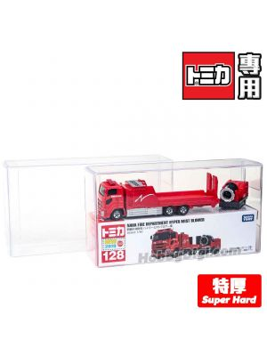 Tomica Super Hard PVC Display Box 4.1x8.6x16.2cm (Double Long Big Boxes)