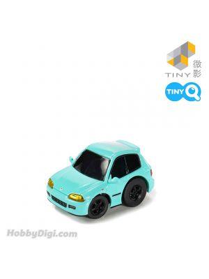 Tiny Q 合金回力車 - 本田 Civic EG6 螢光藍