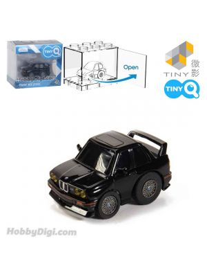 Tiny Q Pull Back Diecast Model Car - BMW M3 E30 (Black)