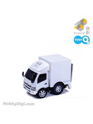 Tiny Q Pull Back Diecast Model Car - HINO 300 Box Lorry (White)
