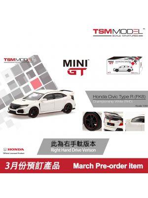 TSM 1:64 Mini GT Model Car - Honda Civic Type R FK8 Championshop White (右手軚)