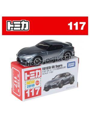 [2019 Sticker] Tomica Diecast Model Car No117 - Toyota GR Supra (First Ltd Ed)